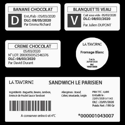 étiquettes de traçabilité